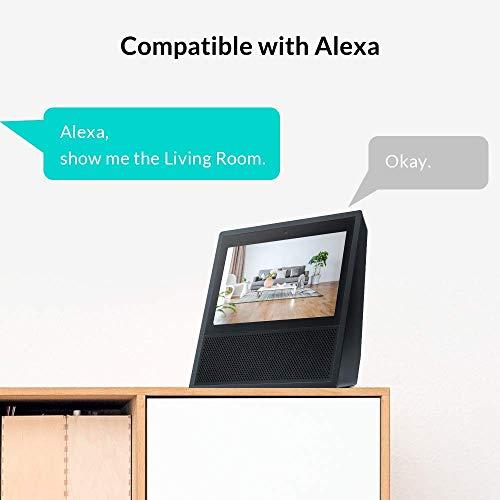 NETVUE NETVUE05 Indoor Surveillance Camera with Cloud Storage for Baby/Dog/Cat (Black)