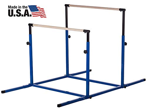 Nimble Sports Blue 3Play Double Horizontal Bars - Uneven Bars - Parallel Bars