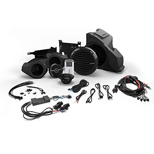 Rockford Fosgate RZR14RC-STAGE3 for Ride Command Interface, Front Speaker and Subwoofer Kit for Select Polaris RZR Models (2014 2020)
