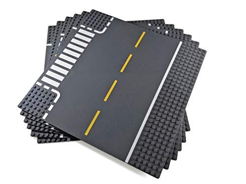 Apostrophe Games Bloques De Construcción Placas Base Clásica Compatibles con Todas Las Principales Marcas (Paquete de 6 (Carreteras))