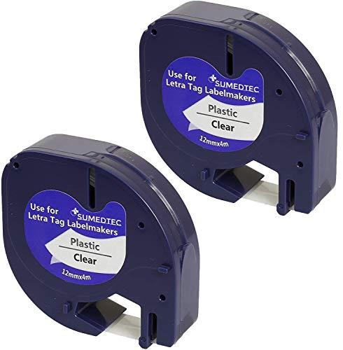 Sumedtec - Pack de 2 uds x Compatible con DYMO LetraTag 1226