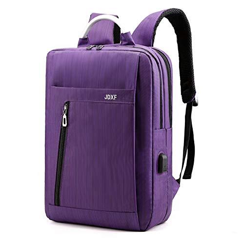 C/H Mochila antirrobo para portátil de 15,6 pulgadas con carga USB, ligera, resistente al agua, mochila inteligente para hombres/mujeres