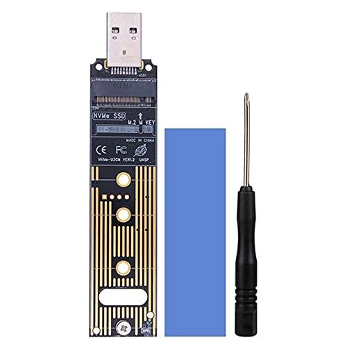 balikha Lector convertidor Adaptador NVME a USB 3,1 para SSD de tamaño 2230/2242/2260/2280 con Llave B/Llave B M - JMS583-USB3.1