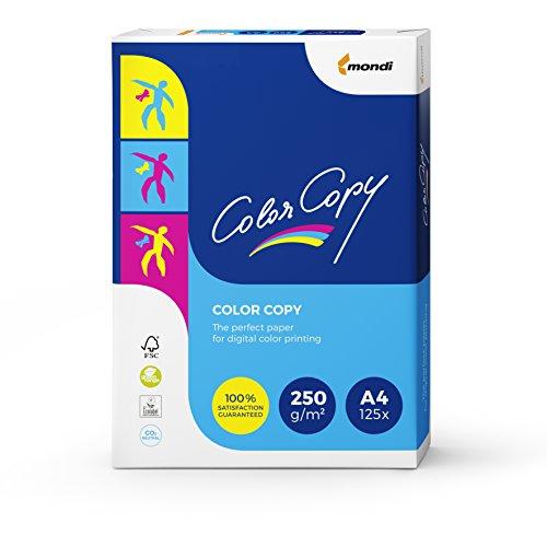 Mondi Color Copy - Carta per Stampa a colori Digitale, Formato A4, 250gr/mq, Confezione da 125 fogli