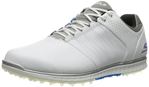 Skechers Performance Men's Go Golf Elite 2 Wide Golf Shoe,White/Gray/Blue,10.5 W US (Skechers Go Golf Pro 2 Lx Golf Shoes)
