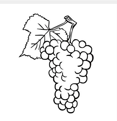 Kyzaa Bloemenboeket, druiven, muurstickers, fruit, vinyl, decoratie, afneembaar, 58 x 75 cm