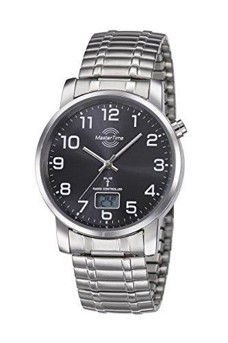 Master Time Funk Quarz Herren Uhr Analog-Digital mit Edelstahl Armband MTGA-10308-22M