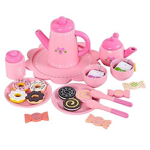 ZGQA-AOC Simulación de la Tarde Tetera de la Taza de té Juego de té Chica Cocina Casa Conjunto de Juguete for niños