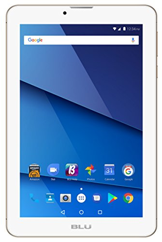 "BLU Touchbook M7 PRO P290L 7"" Unlocked GSM 3G + Wi-Fi Android 7.0 (Nougat) Quad-Core Tablet PC - Gold"