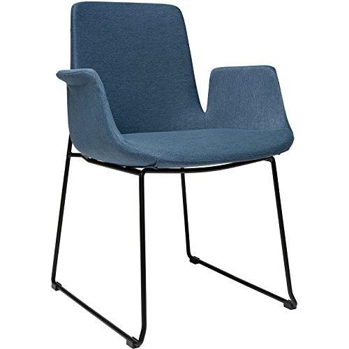 Brooklyn Dining Room Arm Chair - Modern, High-End Seating (Dark Blue)