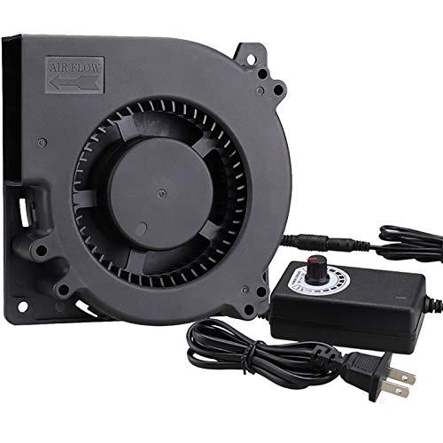 GDSTIME 120mm Blower Fan, AC 110V 220V DC 12V Powered Fan with Speed Control, for Receiver DVR Xbox Modem AV Cabinet Cooling