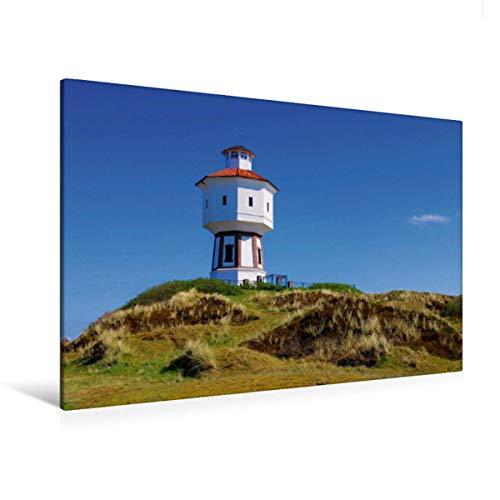 Premium Textil-Leinwand 120 x 80 cm Quer-Format Wasserturm Langeoog | Wandbild, HD-Bild auf Keilrahmen, Fertigbild auf hochwertigem Vlies, Leinwanddruck von LianeM