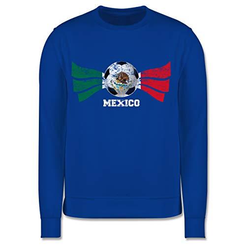 Shirtracer Fußball-Europameisterschaft 2021 Kinder - Mexico Fußball Vintage - 104 (3/4 Jahre) - Royalblau - Mexico Pullover - JH030K - Kinder Pullover