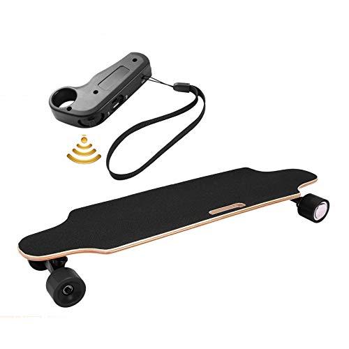 Longboard E Komplettboard Elektrisches City Skateboards Elektrolongboard mit Fernbedienung und 250W Motor | Reichweite 10 km, Max. Geschwindigkeit 20km/h (schwarz)