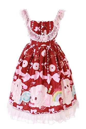 JSK-59-3 - Disfraz kawaii de oveja, cordero, donut pastel, gtico, lolita