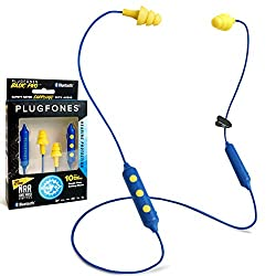 powerful Plugfones Basic Pro In-Ear with wireless Bluetooth – Headphones with Noise Cancellation…