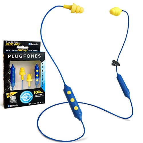 Plugfones Basic Pro Wireless Bluetooth in-Ear Earplug Earbuds - Noise Reduction Headphones with...