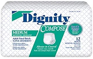 Hartmann 55390 Dignity Compose Disposable Protective Underwear for Moderate Protection, 30