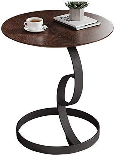 Nest Of Tables Biały stolik kawowy Stoliki boczne Stolik na laptopa Sofa do salonu Kawa Marmur Okrągły koniec z kutego żelaza Balkon do sypialni Wypoczynek (kolor, marmurowy blat), marmurowy blat