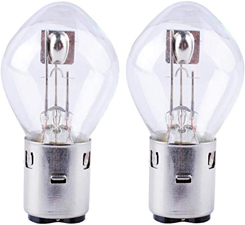 Poweka S2 12V 35/35w Chinese Scooter Light Bulb Fits for 50cc 150cc 250cc Znen Jonway Tank Baron (2 Packs)