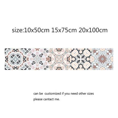 QWERTYU Arabische Retro Tegel Stickers Voor Keuken Badkamer PVC Zelfklevende Muurstickers Woonkamer DIY Decor Behang Waterdicht LIJIANME, 10x50cm, 13