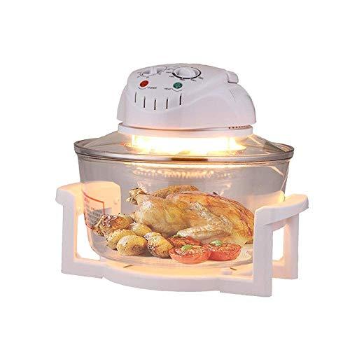 CHENMAO Fries Vetro Air friggitrice elettrica friggitrice francesi, Hot Air Fryer Ridotto Contenuto di Grassi, Cuocere al Forno, alla griglia e tostatura Camera di Cottura Girarrosto, Dimensioni 37 *