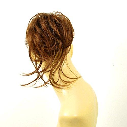 postiche chouchou chignon cheveux châtain doré cuivré ref 22 30