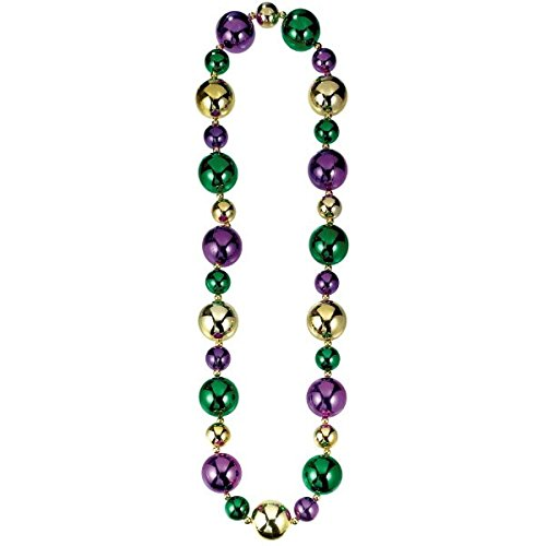 """Amscan 390917 Large Bead Party Necklace, 46"""", 1 piece"""