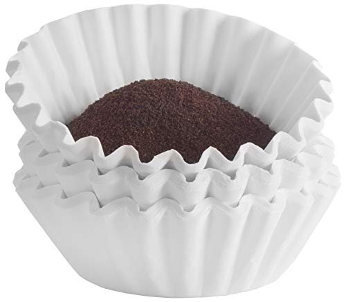 Tupkee Commercial Large Coffee Filters - 12-Cup Coffee Filters, 500-count, Chlorine Free, White - Compatible with Wilbur Curtis, Bloomfield, Bunn Coffee Maker Filters - Made in the USA