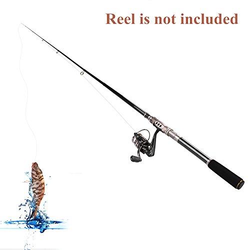 PLUSINNO Telescopic Fishing Rod Retractable Fishing Pole Rod Saltwater...