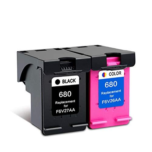 AAMM 680 Cartuchos de Tinta fáciles de Agregar para HP DeskJet 3638 1118 2138 3636 3838 4538, Reemplazo Compatible Combinación de Tanque de Tinta de Gran Capacidad