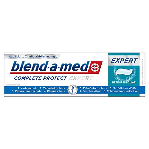 Oral-B blend-a-med Pro-Expert Zahncreme Complete Protect EXPERT Tiefenreinigung* Fluorid-Zahnpasta, 75 ml