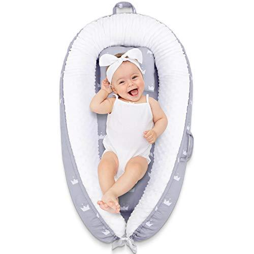 YISSVIC Nido Bebé Recién Nacido Cuna Nido Portátil Reductora de Cama Cómodo y Desmontable de Algodón para Bebés 0-3 Años