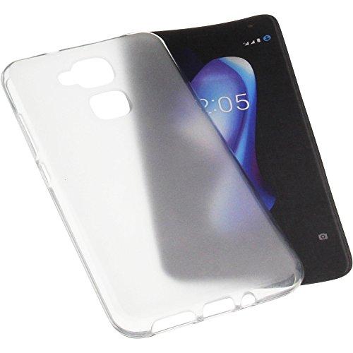foto-kontor Tasche für Bq Aquaris V Plus/VS Plus Gummi TPU Schutz Handytasche transparent weiß