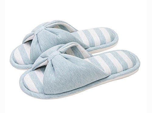 (Made By Cotton) Skidproof Le Style Simple De Pantoufles(Bleu Clair)