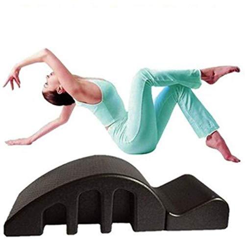 KEKEYANG pilates Yoga Pilates Reformer cuña Back Pain Relief Arco Paso Bucket Volver Curva Salud alineación de la columna de la espina dorsal grande Yoga Equipo, camilla desmontable Negro Cuña de espu