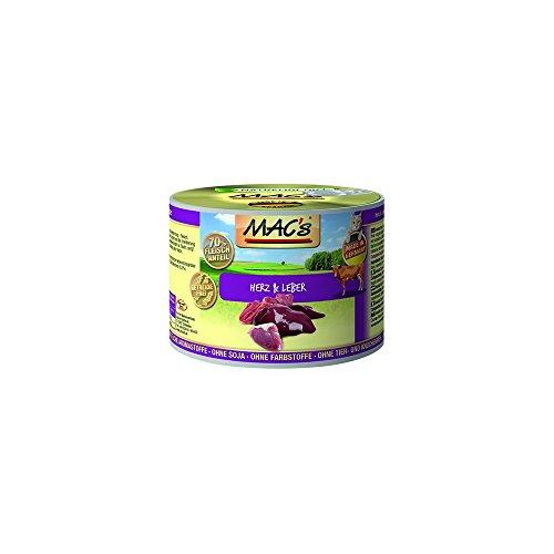 Mac's Katzenfutter getreidefrei Herz & Leber, 6 Stück X 200 g