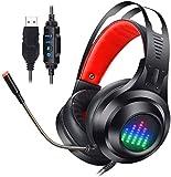 Auriculares de computadora, videojuegos con cable, cafés de Internet, auriculares Auriculares de reducción de ruido, estéreo,Black