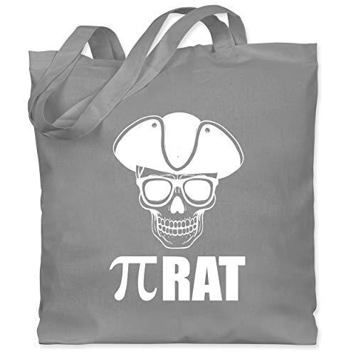 Shirtracer Nerds & Geeks - (Pi) rat - weiß - Unisize - Hellgrau - Spruch - WM101 - Stoffbeutel aus Baumwolle Jutebeutel lange Henkel