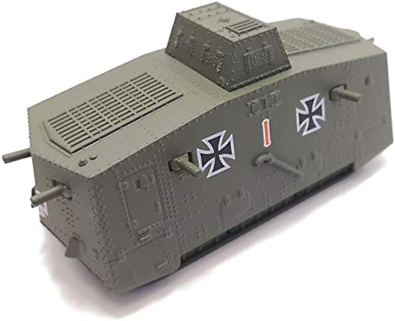 Generic Panzerkampf 1 100 Scale Military Model Toys World War I Sturmpanzerwagen A7V Tank Diecast Metal Model Toy for Collection,Gift A7V