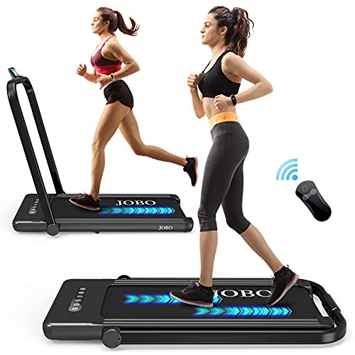 Foldable Treadmill for Home, 2 in 1 Treadmill with LED Screen and Bluetooth Speaker, 2.3HP Portable Under Desk Electric Treadmill, Walking Machine Suitable for Home&Office Use