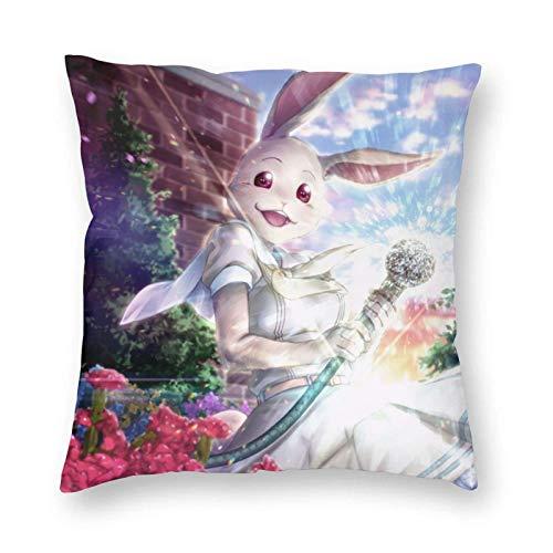 WH-CLA Funda De Almohada Haru Rabbit Beastars Throw Pillow Covers Regalo Decorativo para El Hogar Cuadrado Cremallera Personalizado Throw Pillow Case Cama 45X45Cm Durable Cómod