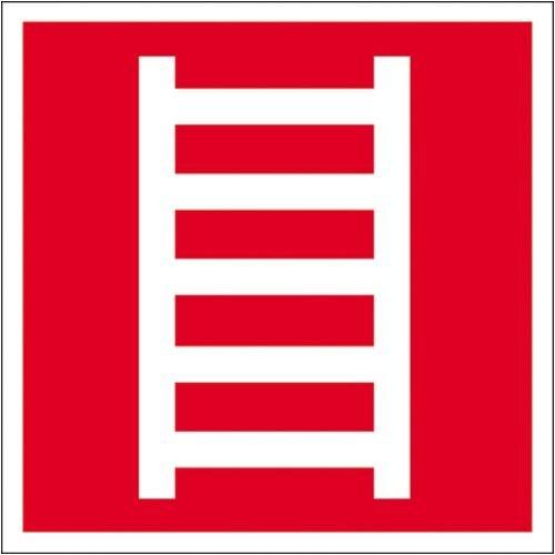0600. Brandschild - oplichtend ladder EverGlow HI 150 aluminium grootte 20,00 cm x 20,00 cm