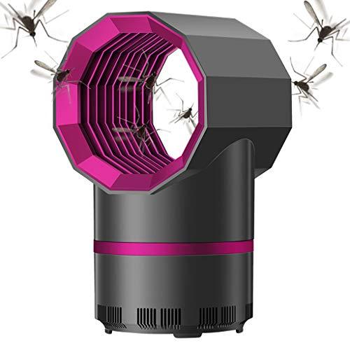 Anti Mosquito Killer Licht, Insect Trap Met 360 Degrees LED Trap Lamp, Sterke Gebouwd in Zuigventilator, USB Power Supply Voor De Slaapkamer, Woonkamer, Kantoor, Interieur,Black