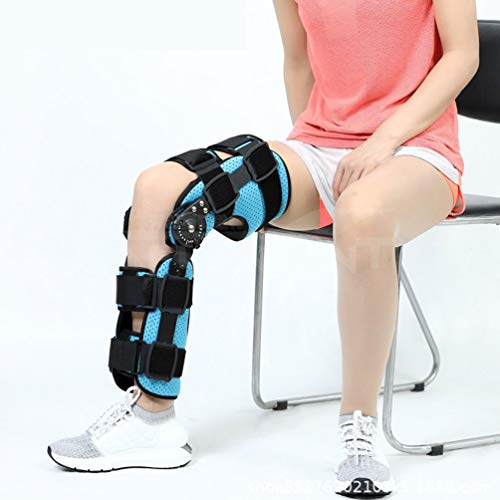 LLDY Verstellbare Kniebandage Knie Sleeve Unterstutzung Klammer für nach der Operation, mit Gelenkschienen für Damen und Herren