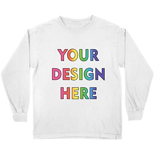 lepni.me Camiseta para Niños Impresión Personalizada de 2 Caras en el Frente y en la Parte Posterior, Texto Personalizado o Diseño de su Propia Imagen (7-8 Years Blanco Multicolor)