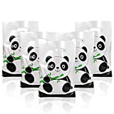 Panda Party Favors Bag, 50 Packs Panda Baby Shower Plastic Goodie Bags Treat Gift Bags for Party Supplies Decorations Boys or Girls Birthday Themed Candy Bags