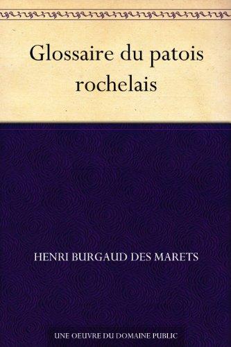 Couverture du livre Glossaire du patois rochelais