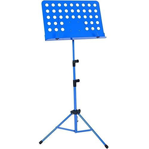 QinWenYan Atril Guitarra portátil en casa Estudiante Atril Plegable Soporte for elevación Música Partituras (Color : Blue)