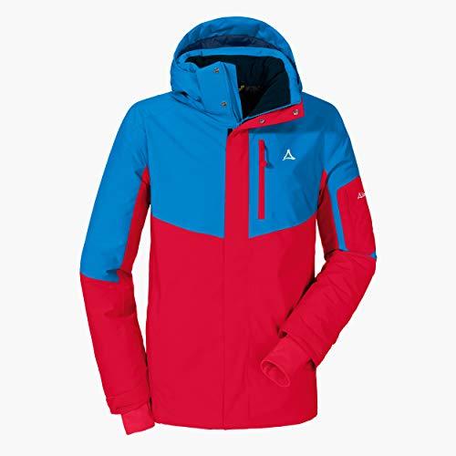 Schöffel Ski Jacket Bozen3, wind- und wasserdichte Skijacke für Männer, atmungsaktive Winterjacke mit 2-Wege-Stretch und Schneefang Herren, racing red, 52